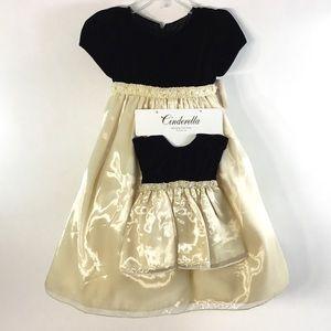 NWT, Girl's 2T Cinderella Dress Set